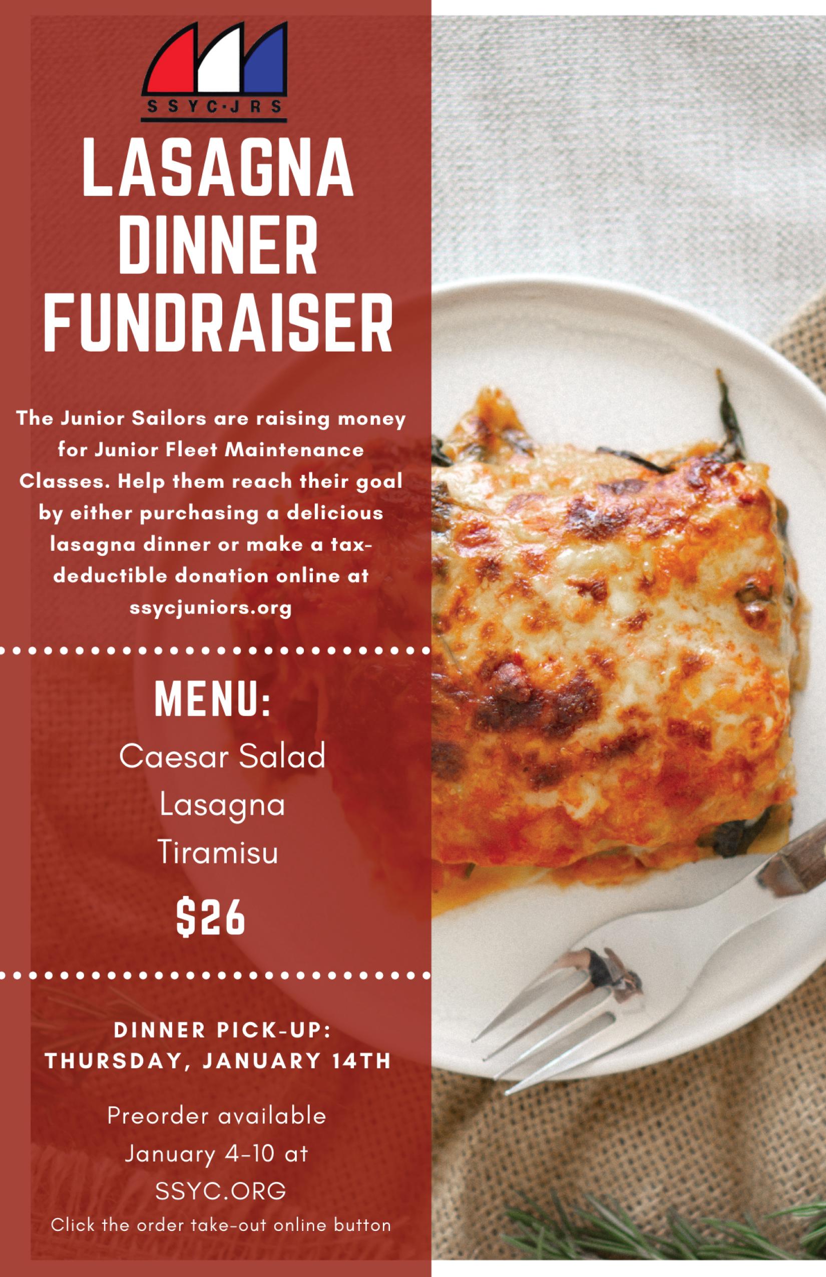 SSYC Lasagna Dinner
