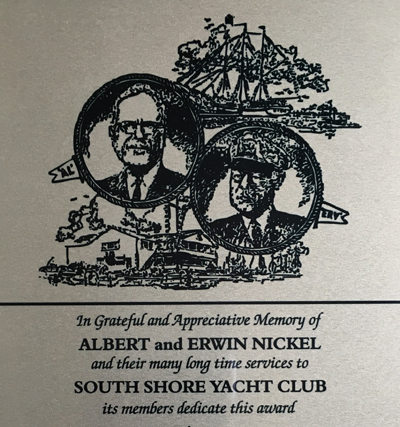 Al Erv Nickel Award Plaque